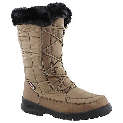 Lds New York 2 brn wtpf wntr boot wide