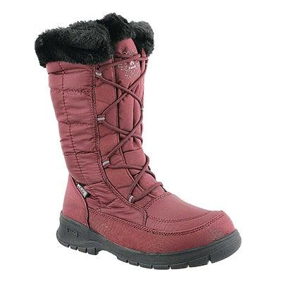Kamik Women's NEW YORK 2 red wtpf winter boots - Wide