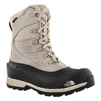 The North Face Women's CHILKAT 400 taupe waterproof winter boots