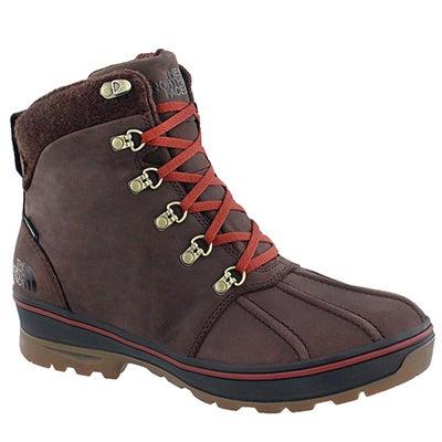 The North Face Men's BALLARD DUCK dark brown wtpf winter boots