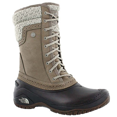 The North Face Women's SHELLISTA II MID brown winter boots