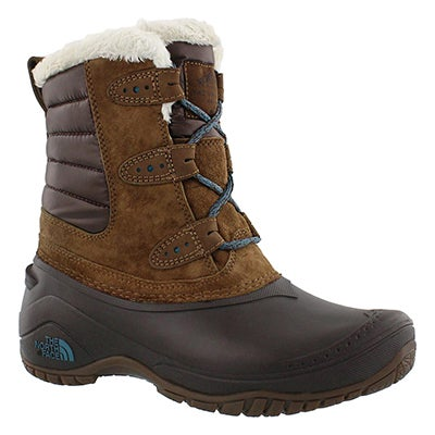 The North Face Women's SHELLISTA II SHORTY dark brown boots
