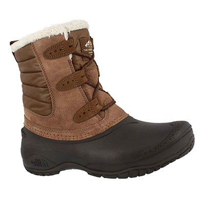 Lds Shellista II Shorty brown wntr boot