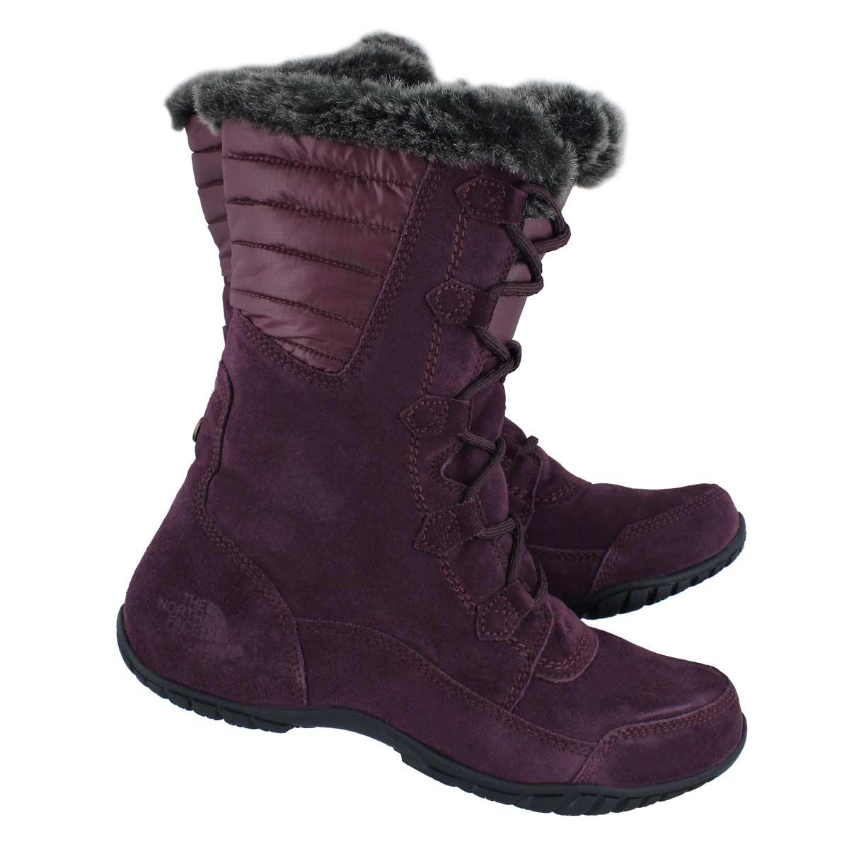 Lds Nuptse Purna II fig/blk wtpf boot