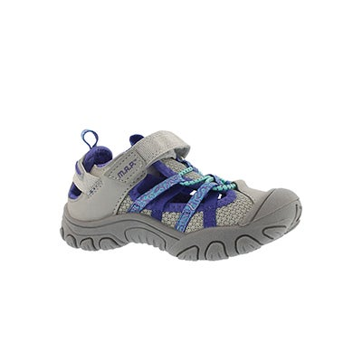 MAP Infants' NIAGARA silver/purple fisherman sandals