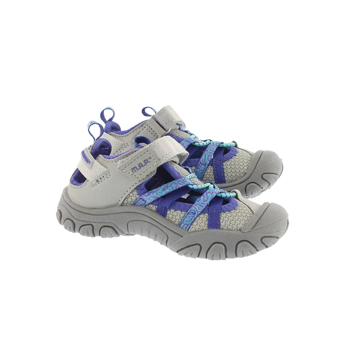 Inf-g Niagara slvr/ppl fisherman sandal