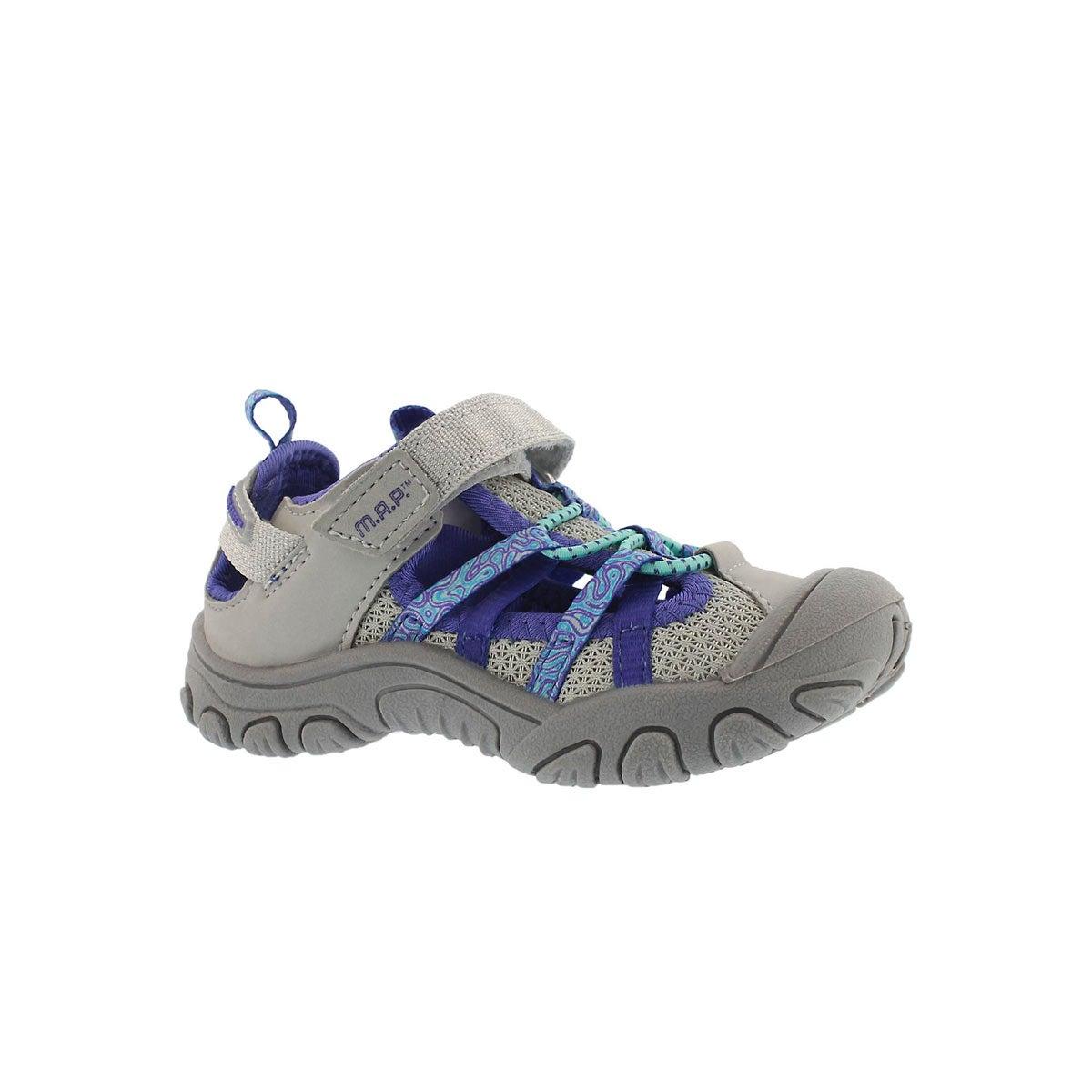 Infants' NIAGARA silver/purple fisherman sandals