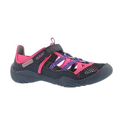 Grl Niagara navy/pink fisherman sandal