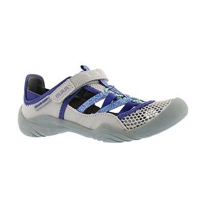 Grl Niagara silver/blue fisherman sandal