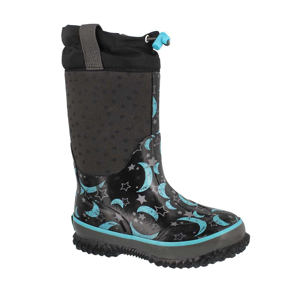 Grls Night Sky blk pullon wp wntr boot