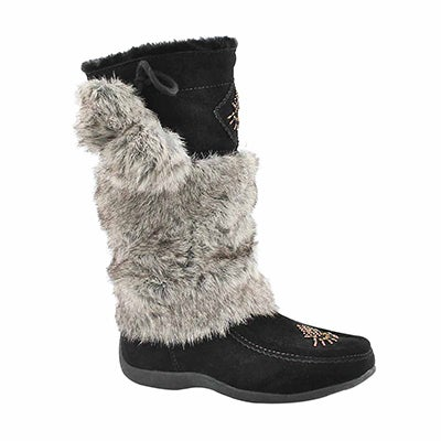 SoftMoc Girls' NISKA 4 JR black mukluks