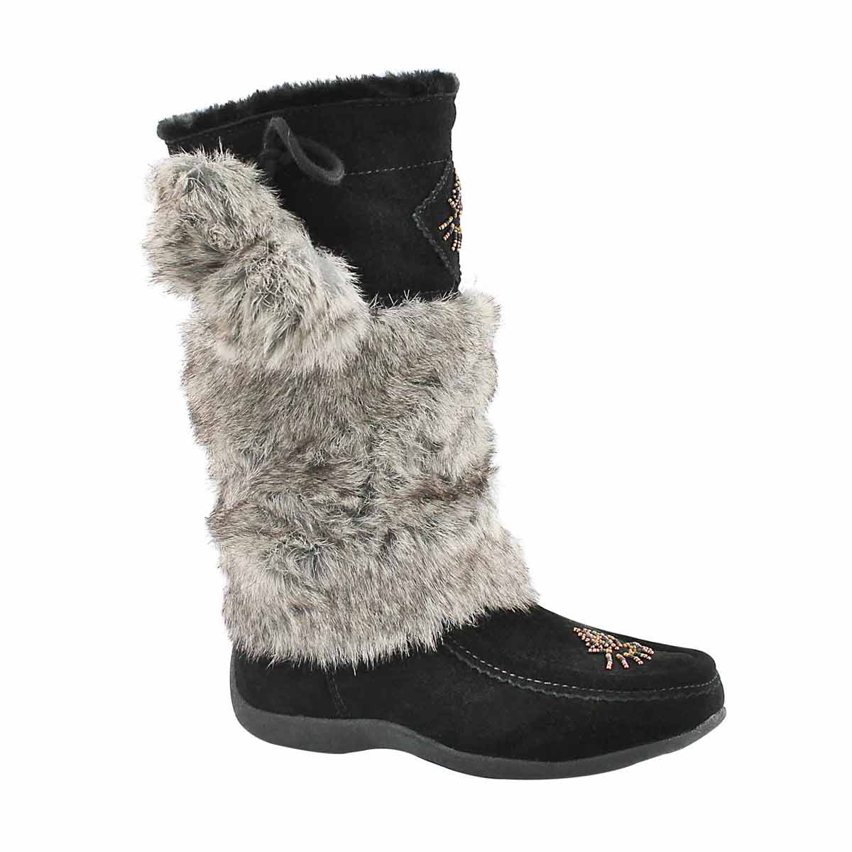 Girls' NISKA 4 JR black mukluks