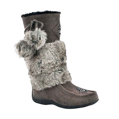 SoftMoc Girls' NISKA 4 JR grey mukluks