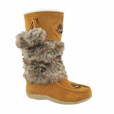 SoftMoc Girls' NISKA 4 JR  hazelnut mukluks