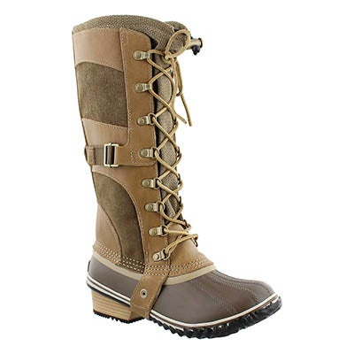 Sorel Women's CONQUEST CARLY brit tan winter boots