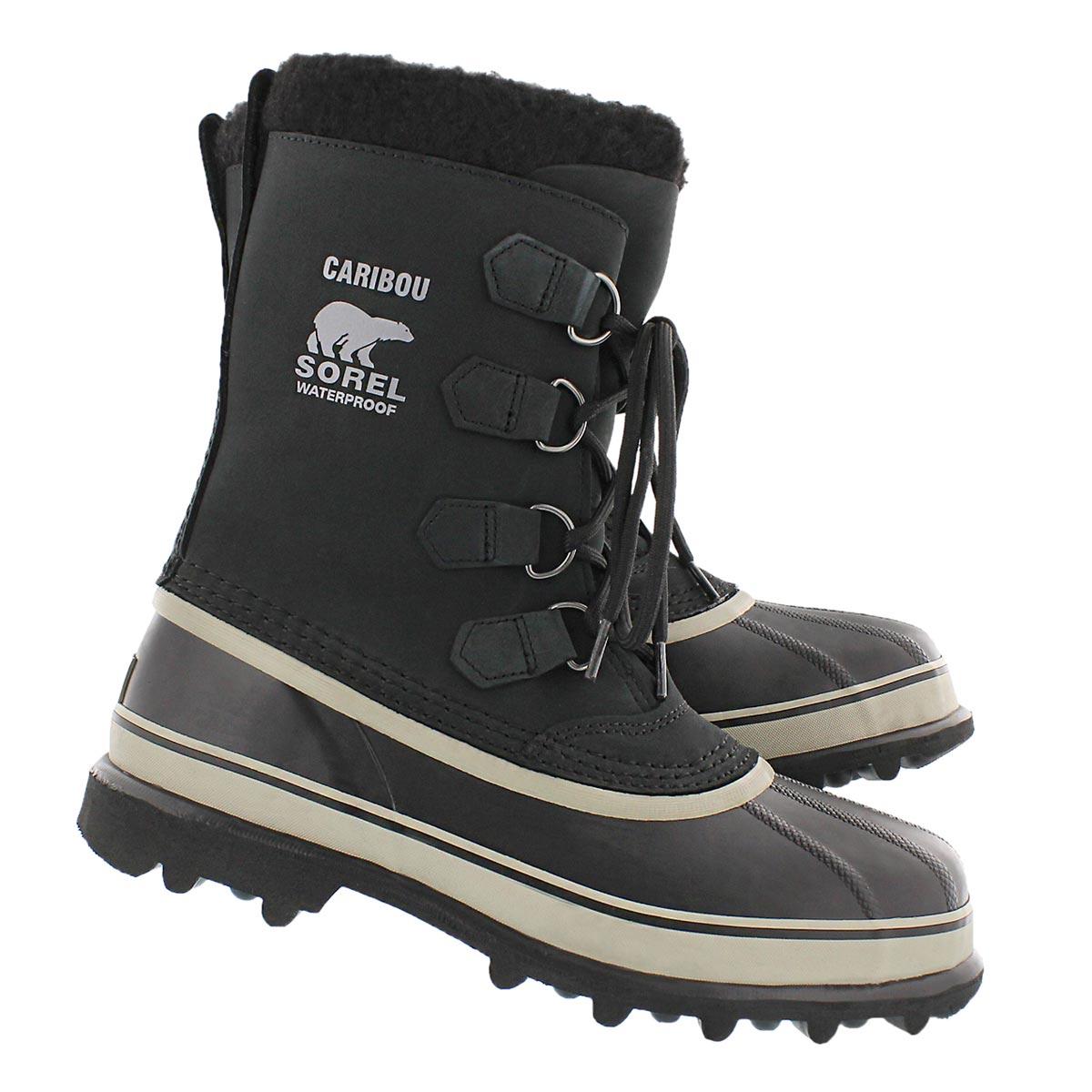 Mns Caribou blk/tusk nubuck pack boot