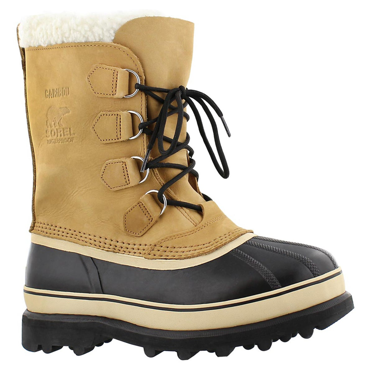 Men's CARIBOU BUFF nubuck tan winter boots