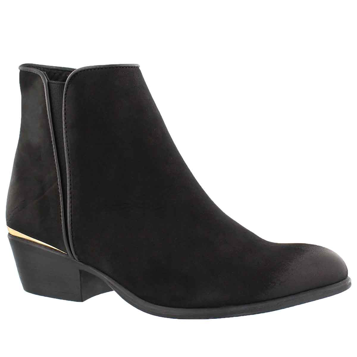 Women's NOBLE black ankle booties