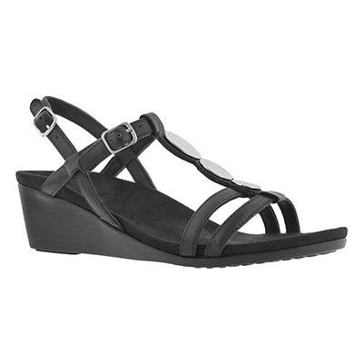 Lds Noleen blk arch support wedge sandal
