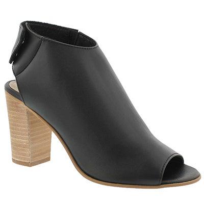 Steve Madden Women's NONSTOP black peep toe dress sandals