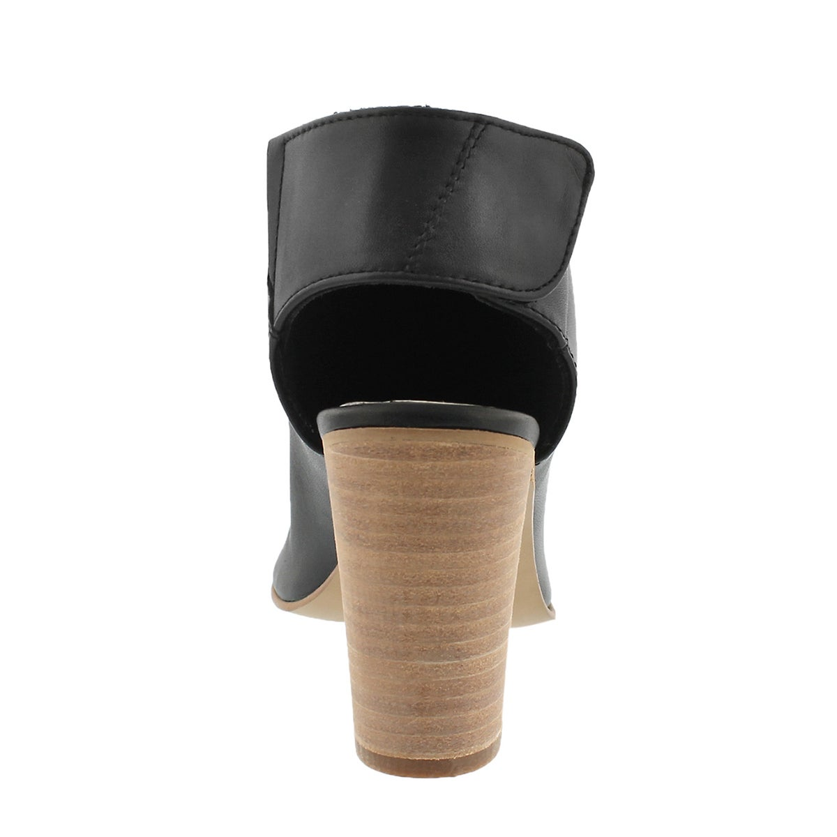 Lds Nonstop black peep toe dress sandal