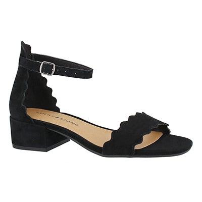 Lds Norreys black dress sandal