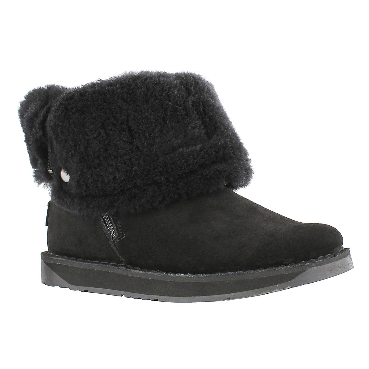 Lds Norway black suede zipper boot