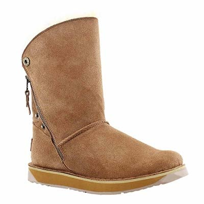 SoftMoc Women's NORWAY chestnut suede zipper boots