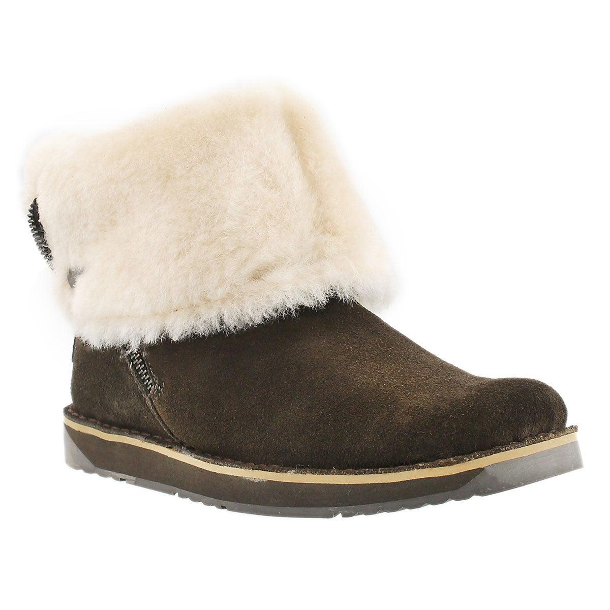 Lds Norway birch suede zipper boot