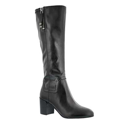 Franco Sarto Women's NOSTALGIA black hi dress boots