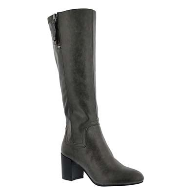 Franco Sarto Women's NOSTALGIA charcoal hi dress boots
