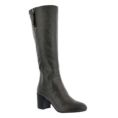 Lds Nostalgia charcoal hi dress boot