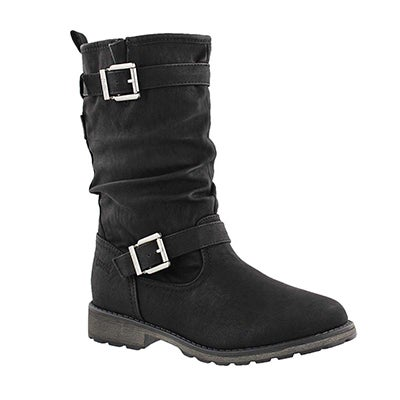 Cougar Girls' NOTA black waterproof casual boots