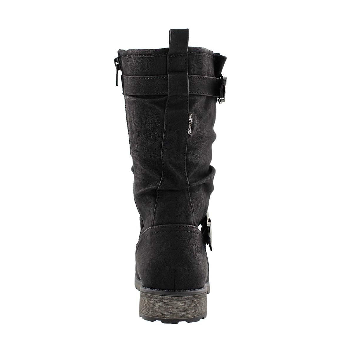 Grls Nota blk wpf mid calf boot