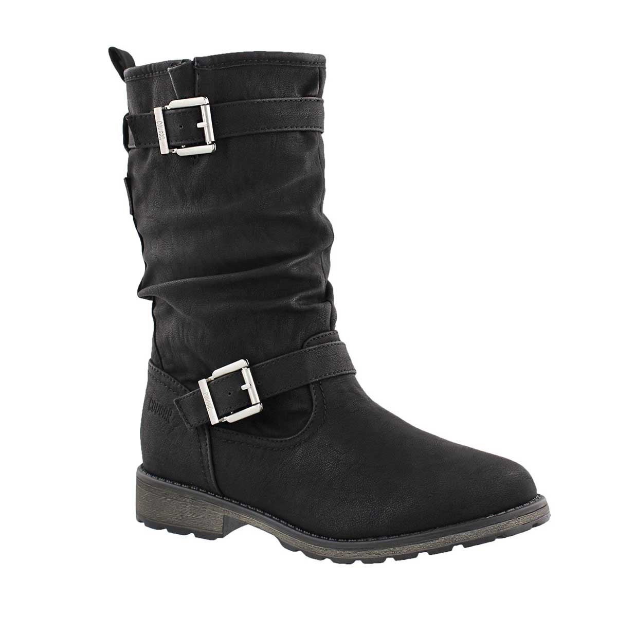 Girls' NOTA black waterproof casual boots