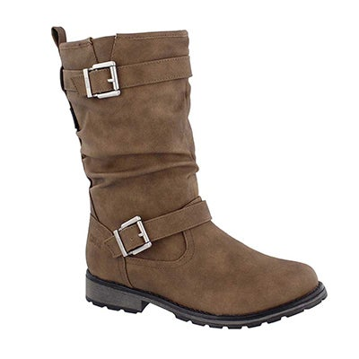 Grls Nota cafe wpf mid calf boot