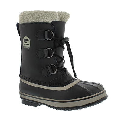 Sorel Boys' YOOT PAC TP black waterproof winter boots
