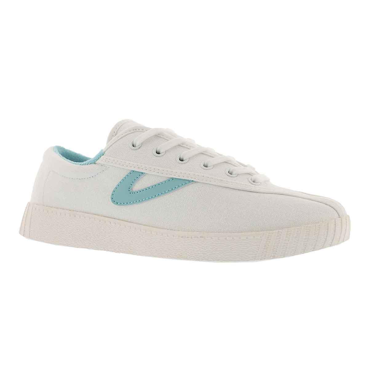 Women's NYLITE PLUS white/blue sneaker