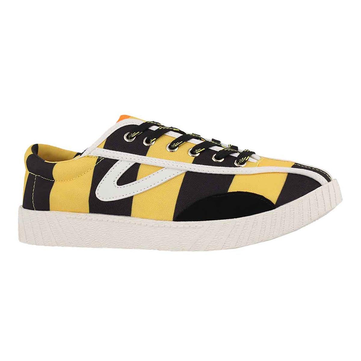 Women's NYLITE RUGBY black/yellow sneakers