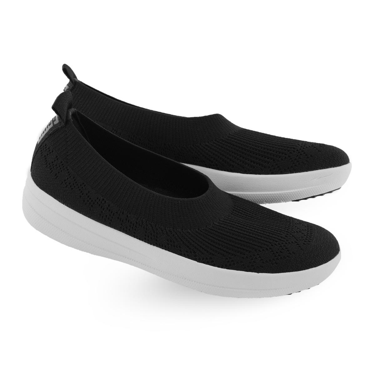 Women's UBERKNIT BALLERINA blk slip on shoes