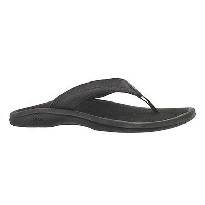 OluKai Women's OHANA black flip flops