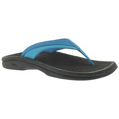 OluKai Sandales tongs OHANA, bleu tropical, femmes