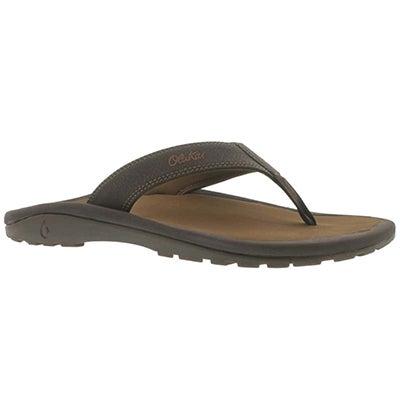 OluKai Men's OHANA dark java/ray flip flops