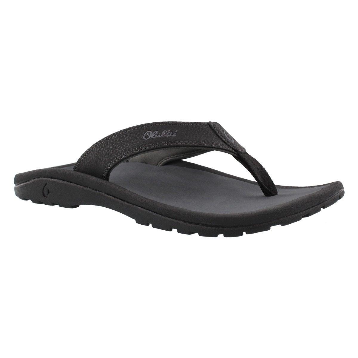 Men's OHANA black/shadow thong sandals