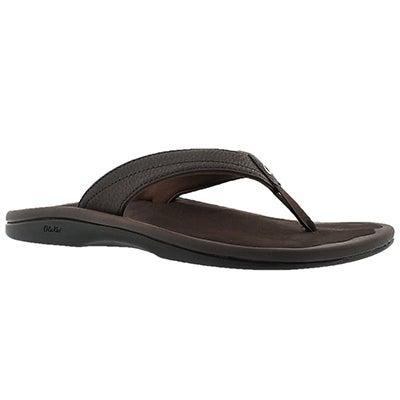 OluKai Women's OHANA dark java thong sandals