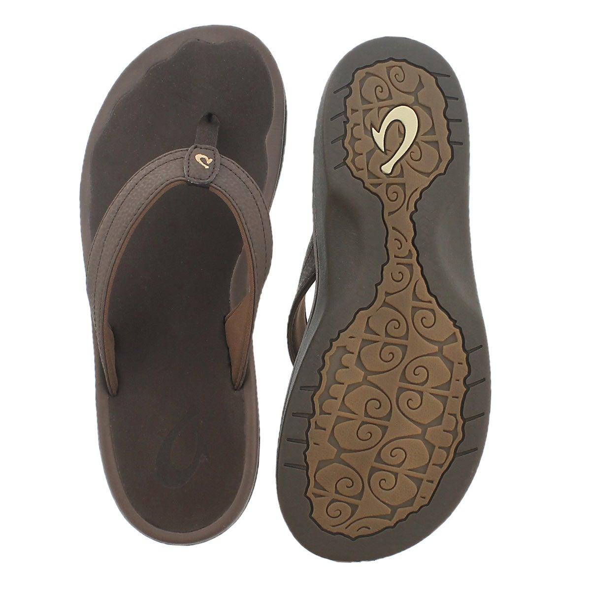 Lds Ohana dark java thong sandal