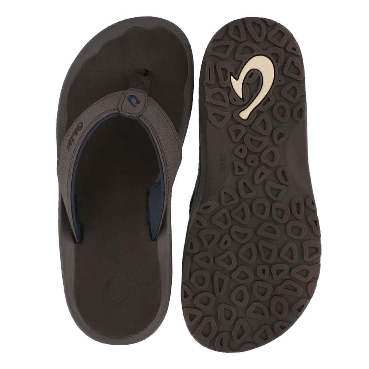 Mns Ohana dark wood thong sandal