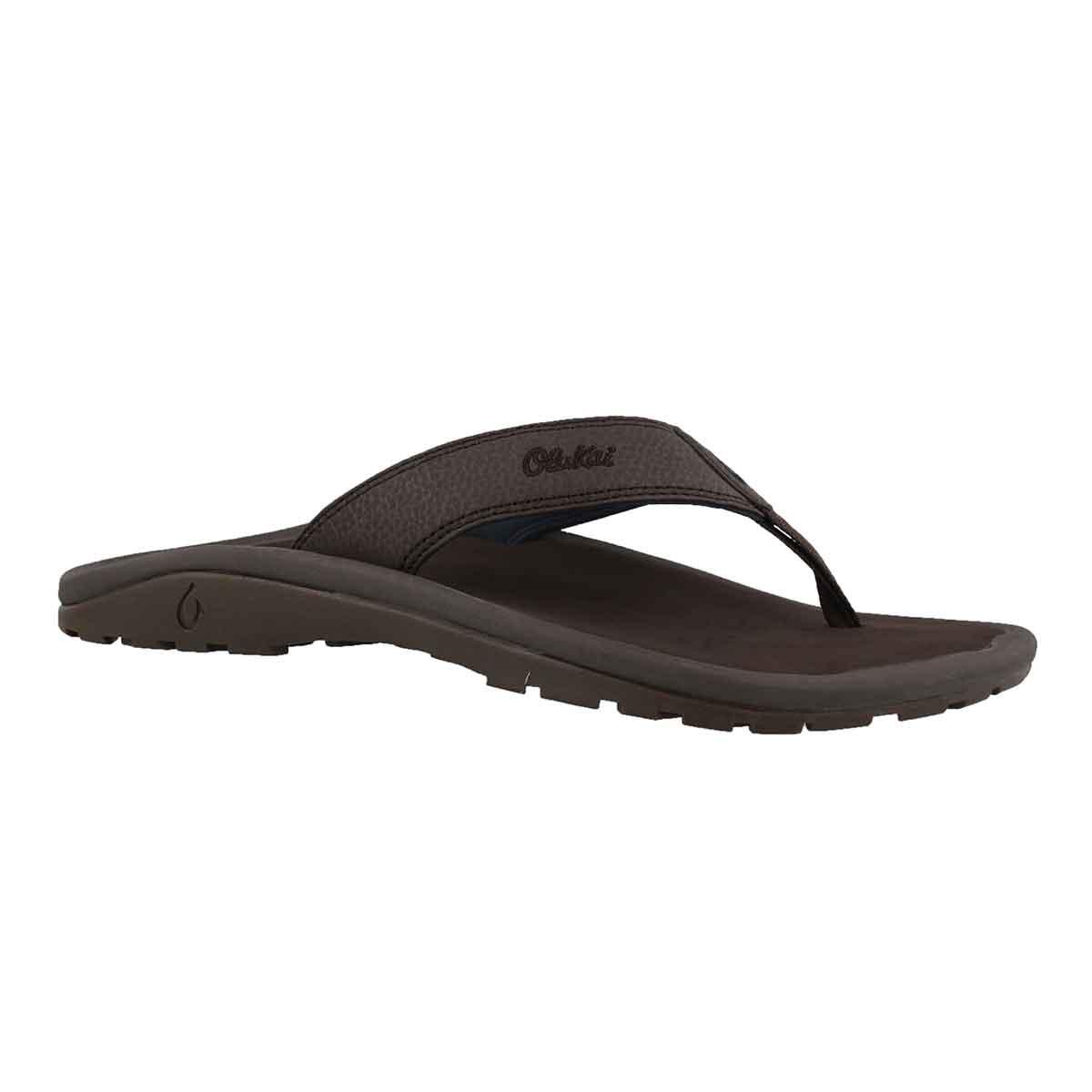 Men's OHANA dark wood thong sandals