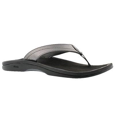 Lds Ohana pewter thong sandal