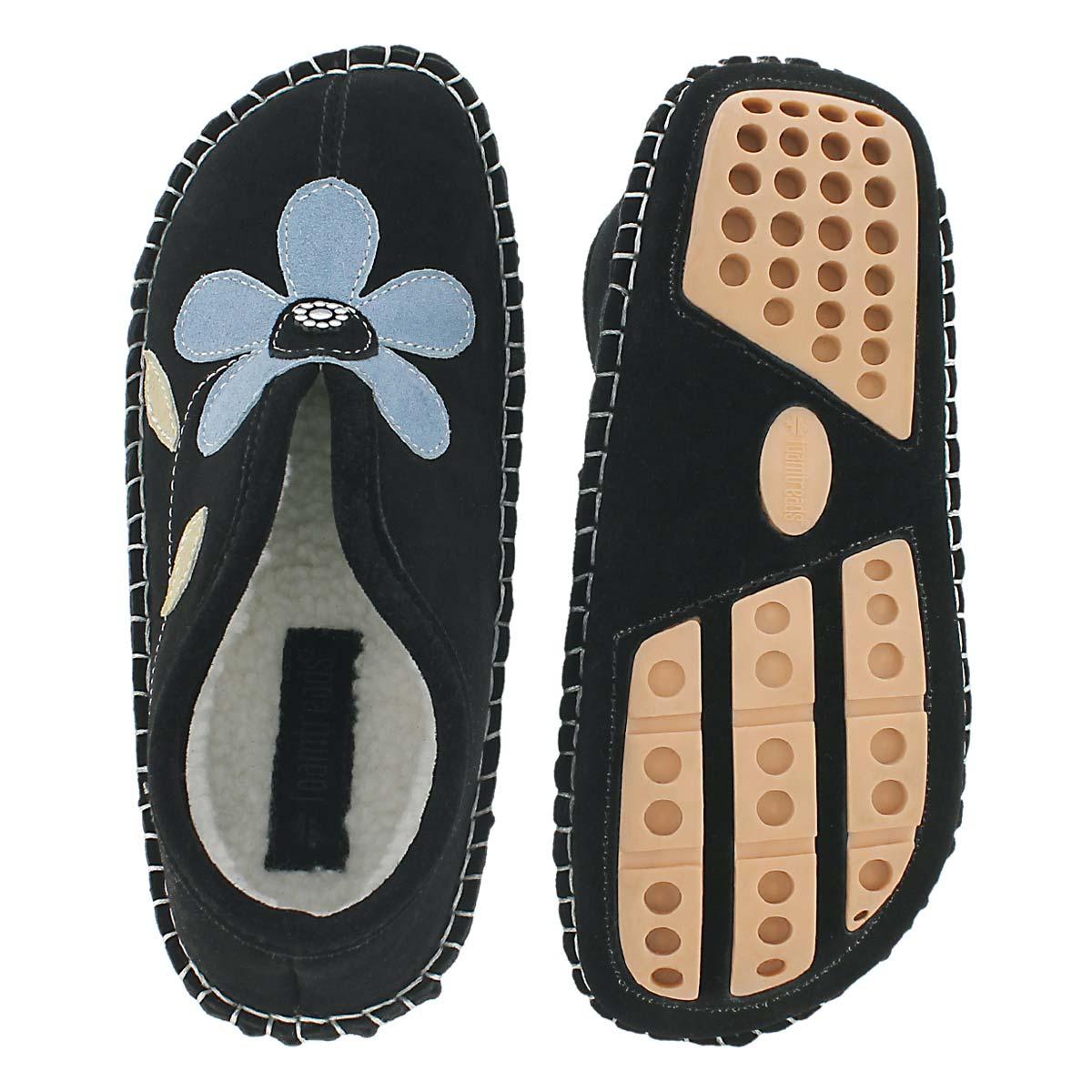 Lds Ophys black suede slipper